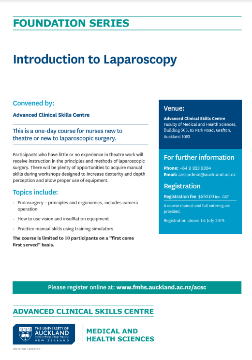 Laparoscopy flyer